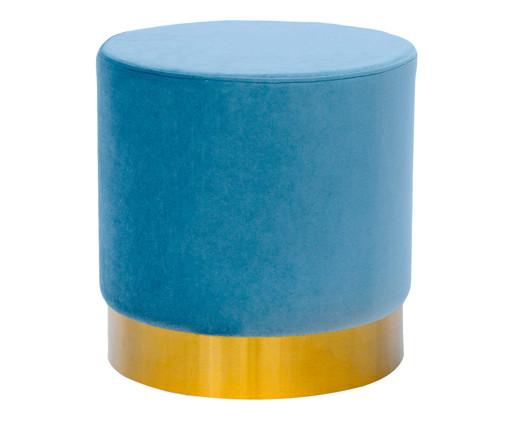 Pufe em Veludo Harlow Slim - Azul Nuvem, Colorido | WestwingNow