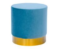 Pufe em Veludo Harlow - Azul Nuvem | WestwingNow