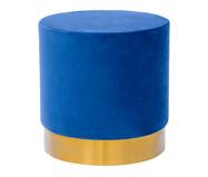 Pufe em Veludo Harlow - Azul Cobalto | WestwingNow