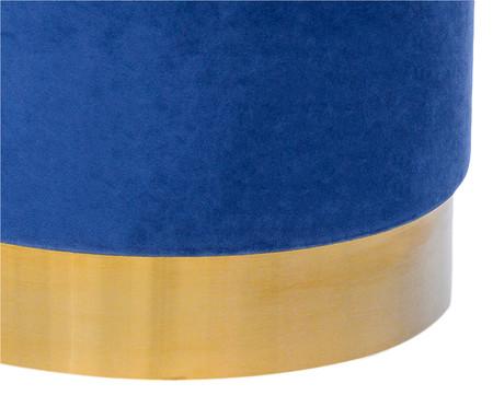 Pufe em Veludo Harlow Slim - Azul Cobalto | WestwingNow