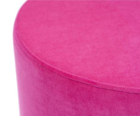 Pufe em Veludo Harlow Slim - Rosa Pink | WestwingNow