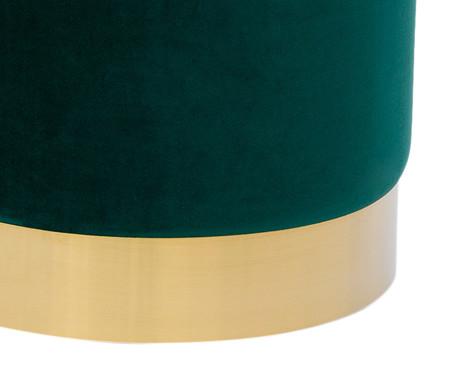 Pufe em Veludo Harlow - Verde Esmeralda | WestwingNow