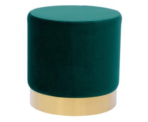 Pufe em Veludo Harlow - Verde Esmeralda, Verde Esmeralda   WestwingNow