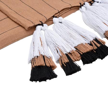 Manta para Sofá com Tassel Tri Tribo - Bege e Branca | WestwingNow