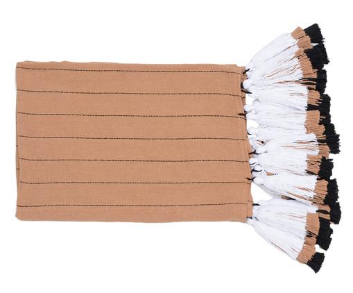 Manta para Sofá com Tassel Tri Tribo - Bege e Branca, Bege e Branca | WestwingNow