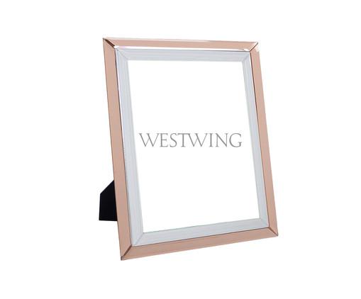 Porta-Retrato de Vidro Estela - Rosa, Rosé | WestwingNow