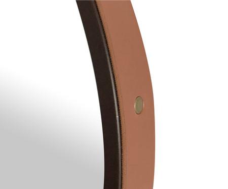 Espelho de Parede Redondo com Alça Adnet Strap - Marrom e Caramelo | WestwingNow