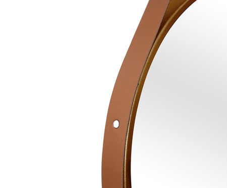 Espelho com Alça Adnet Strap - Marrom e Caramelo | WestwingNow