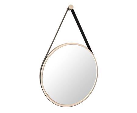 Espelho de Parede Redondo com Alça Adnet Strap - Branco e Preto | WestwingNow