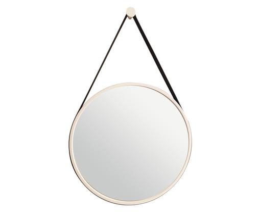 Espelho de Parede Redondo com Alça Adnet Strap - Branco e Preto, Colorido | WestwingNow