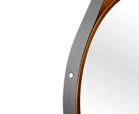 Espelho de Parede Redondo com Alça Adnet Strap - Marrom   WestwingNow