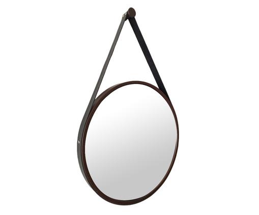 Espelho Redondo com Alça Adnet Strap Marrom Escuro, Marrom | WestwingNow