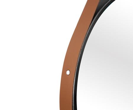 Espelho com Alça Adnet Strap - Preto e Caramelo | WestwingNow