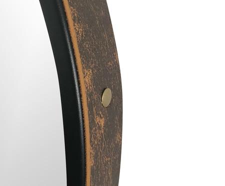 Espelho de Parede Redondo com Alça Adnet Strap - Preto | WestwingNow