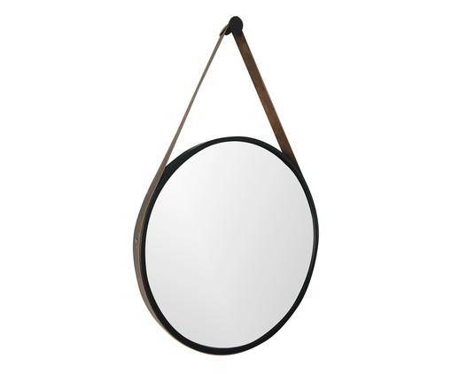 Espelho Redondo com Alça Adnet Strap Preto, Colorido | WestwingNow