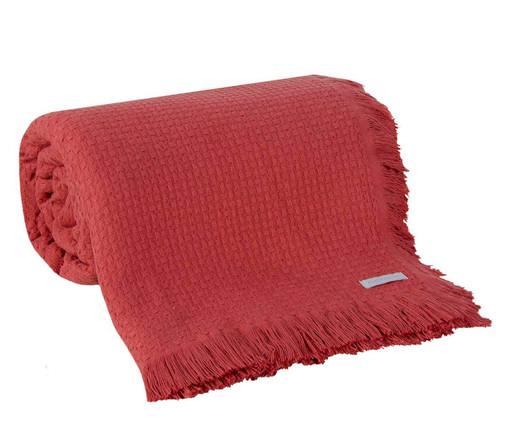 Colcha com Franja In Design em Algodão - Vermelha, Vermelho | WestwingNow