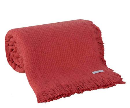 Colcha com Franja In Design em Algodão - Vermelha | WestwingNow