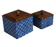 Jogo de Potes Gigo - Azul e Marrom | WestwingNow
