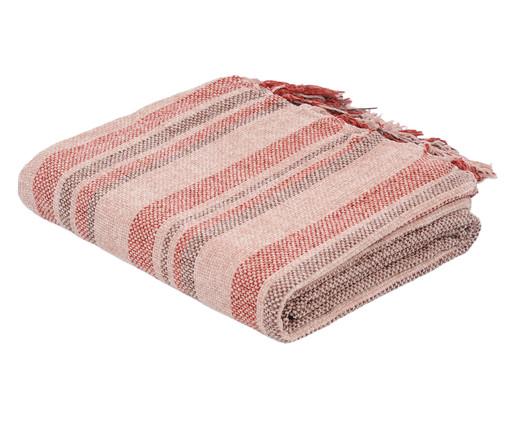 Manta Boras Stripes - Vermelha, Cinza, Bege, Rosa, Colorido | WestwingNow