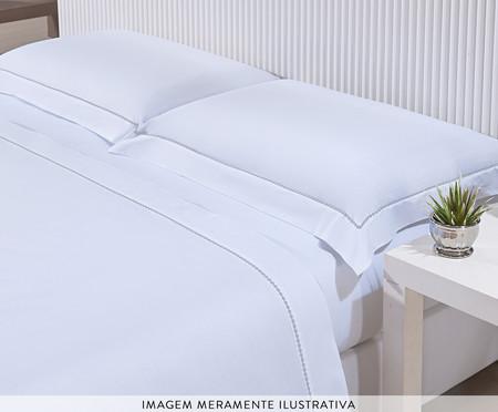 Jogo de Lençol Hotel Bordado Cinza - 200 Fios | WestwingNow