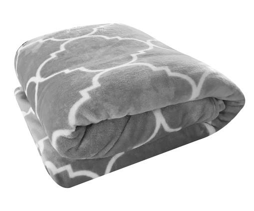 Cobertor Toque de Seda Estampado Liz - Cinza, Branco   WestwingNow