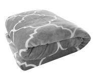 Cobertor Toque de Seda Estampado Liz - Cinza | WestwingNow