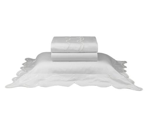 Jogo de Lençol em Cetim Imperatriz Branco - 600 Fios, Branco | WestwingNow