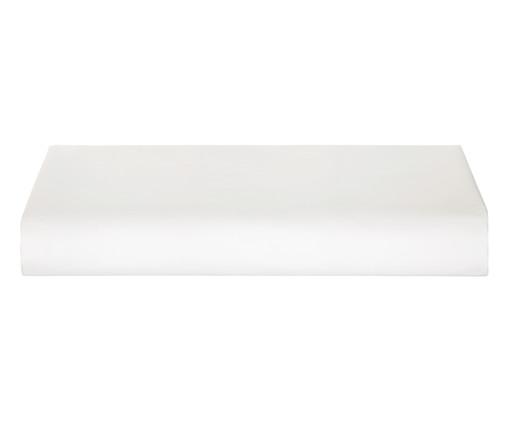 Lençol Inferior de Algodão Egípcio Cetim 300 Fios Neoclassico - Branco, Branco | WestwingNow