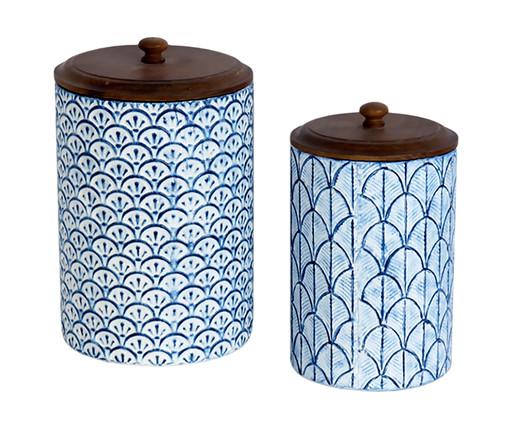 Jogos de Potes Donnie Round - Azul Claro, Azul | WestwingNow