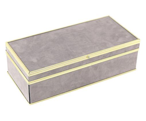 Caixa Decorativa Desi - Cinza, Cinza | WestwingNow