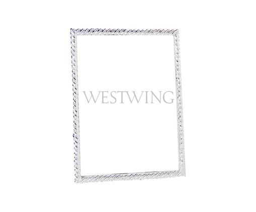 Porta-Retrato Hanâni - Prateado, Prata / Metálico | WestwingNow