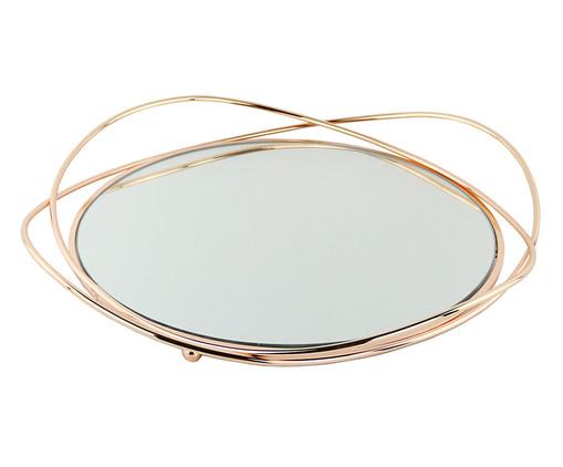 Bandeja Decorativa de Metal Espelhada Dilovasi - Dourado, Prata / Metálico | WestwingNow