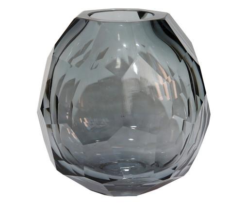 Vaso de Vidro Clarisse I - Cinza, Cinza | WestwingNow