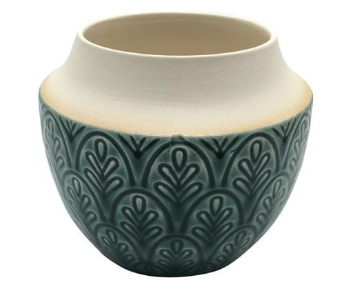 Vaso de Cerâmica Cibell - Verde, Verde | WestwingNow