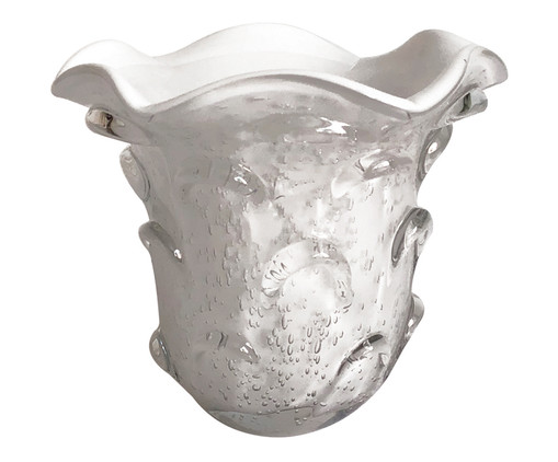 Vaso de Vidro Trouxinha Hattie - Branco, Branco | WestwingNow