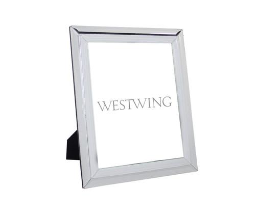 Porta-Retrato Espelhado Darcy - Prateado, Espelhado | WestwingNow
