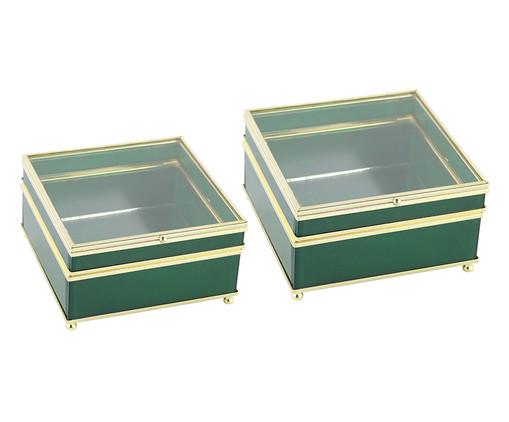 Jogo de Caixas Decorativas de Vidro Be - Verde, Verde | WestwingNow