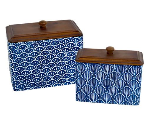 Jogo de Potes Eva - Azul e Marrom, Azul | WestwingNow