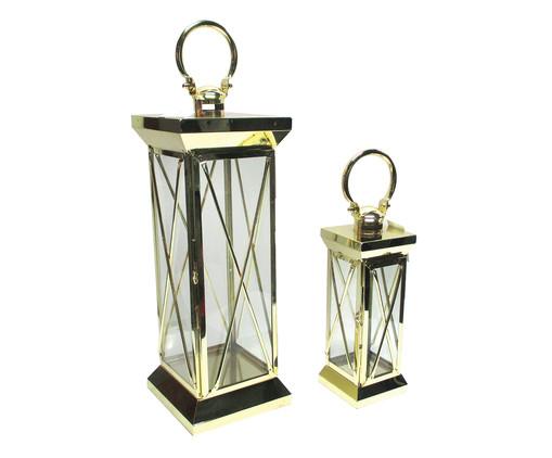 Jogo de Lanternas Susan - Dourada, Dourado | WestwingNow