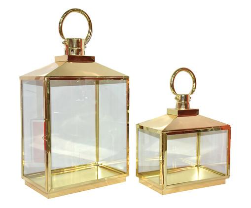Jogo de Lanternas Freida - Dourado, Dourado, Transparente | WestwingNow