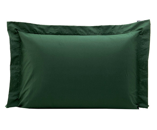 Fronha Bordada Lise Verde Militar - 150 Fios, Verde Militar | WestwingNow