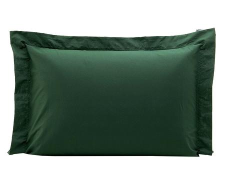 Fronha Bordada Lise Verde Militar - 150 Fios | WestwingNow