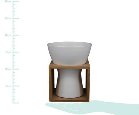 Vaso de Cerâmica Aliza - Branco e Marrom | WestwingNow