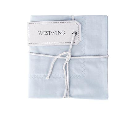 Fronha Bordada Lise Algodão 150 Fios - Azul | WestwingNow