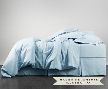 Fronha Bordada Lise Azul Algodão - 150 Fios | WestwingNow