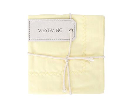 Fronha Bordada Lise Amarelo Pastel - 150 Fios | WestwingNow