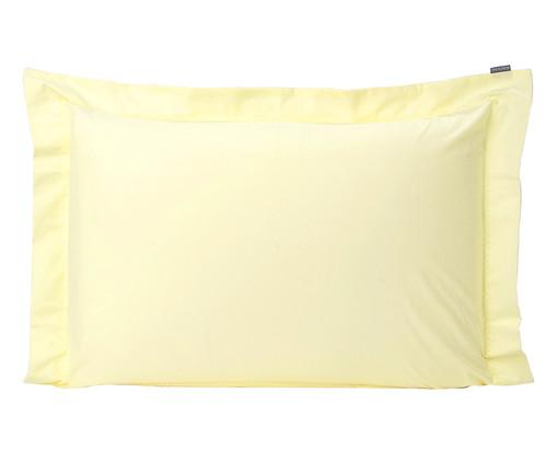 Fronha Bordada Lise Amarelo Pastel - 150 Fios, Amarelo Pastel | WestwingNow