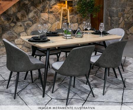 Mesa de Jantar Retangular Lichia M - Preto | WestwingNow