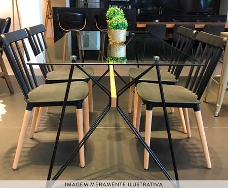 Mesa de Jantar Retangular Araca G - Preto | WestwingNow