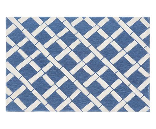 Tapete Bamboo Petit, Azul e Cru | WestwingNow